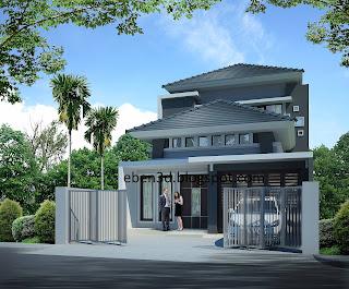 Render rumah tinggal