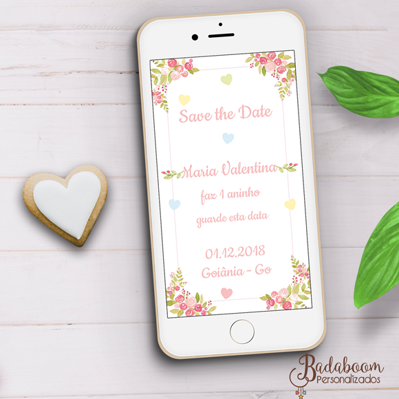 chuva de bençãos, chuva de amor, floral, save the date, arte digital, whatsapp, save the date whatsapp