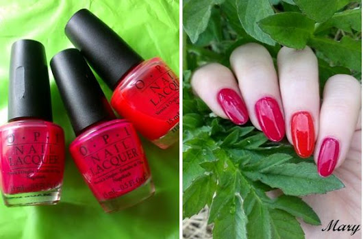 OPI Do You Think I'm Tex-y? + Too Hot Pink to Hold 'Em + Guy Meets Gal-Veston