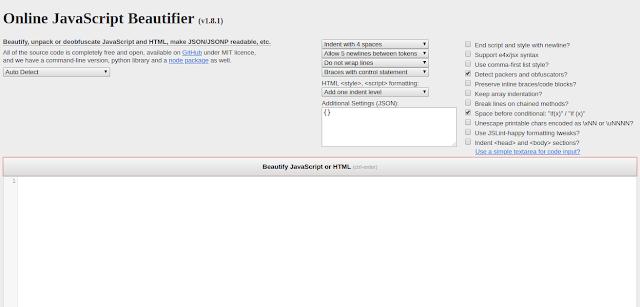 Javascript, Beautifier, Javascript Beautifier, nashrul, 1nashrul