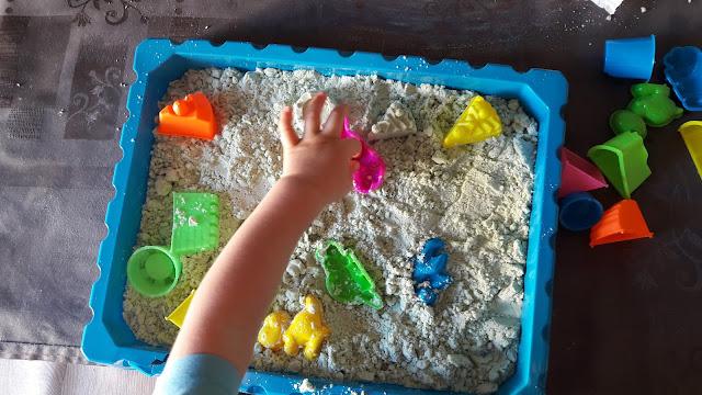 tutoriel diy enfant activité atelier créer sable magique facile bio maison