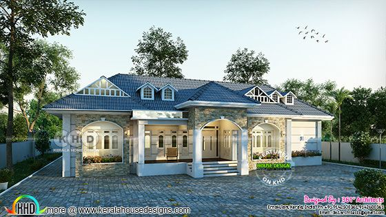 Colonial model bungalow architecture