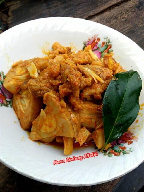 Resep rendang daging + nangka muda ala rumah makan ciwidey