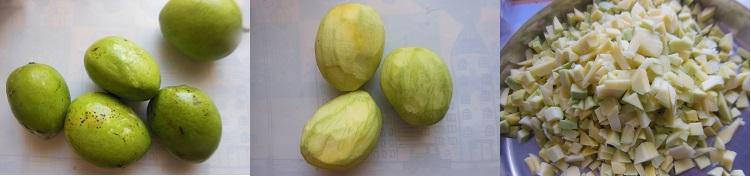 How to make Mango Pachadi  - Step 3