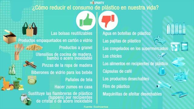 como reducir el plastico