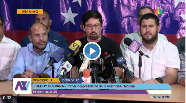 Freddy Guevara llama a tomar las calles todo el fin de semana