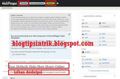 Cara membangun backlink pada hubpages melalui posting artikel