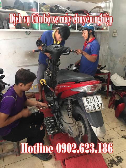 Cứu hộ xe máy Yamaha tại TpHCM chuyên nghiệp nhanh chóng