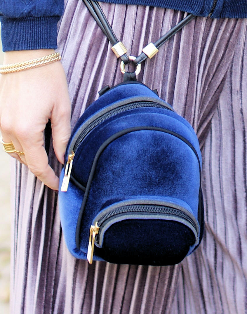 Save My Bag Baby Velvet backpack on Fashion and Cookies fashion blog, fashion blogger style