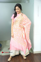 Actress Ritu Varma Pos in Beautiful Pink Anarkali Dress at at Keshava Movie Interview .COM 0056.JPG