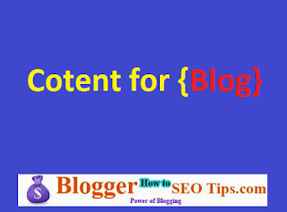 Fresh Blogging Content For My Blog Readers