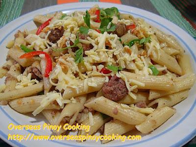 Vigan Longanisa Penne Pasta - Recipe