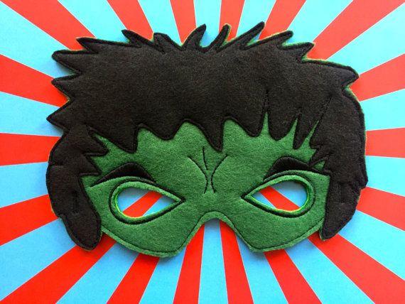 Baú Da Web: Máscara Do Hulk Em Feltro Com Molde