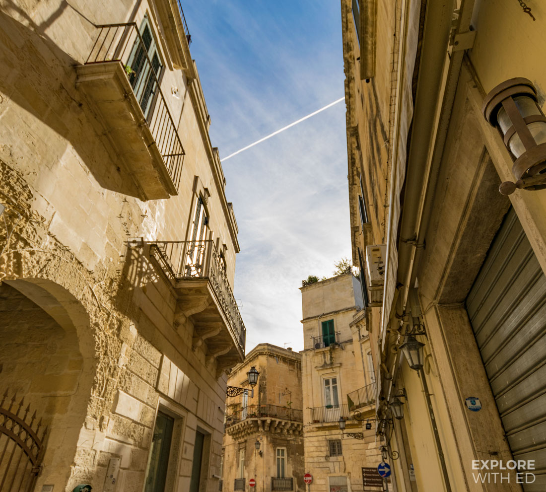 The historical centre of Lecce in Puglia