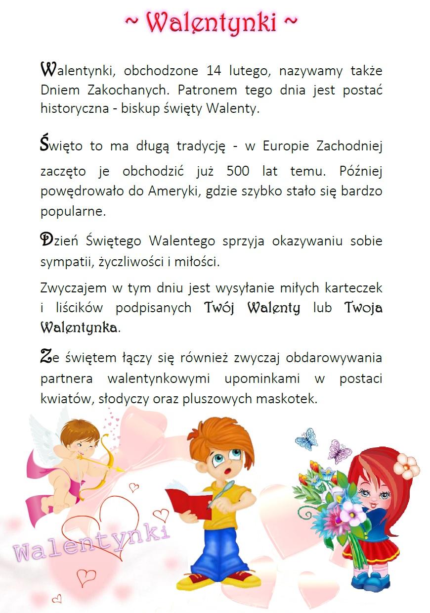 Blog Edukacyjny Dla Dzieci Walentynki