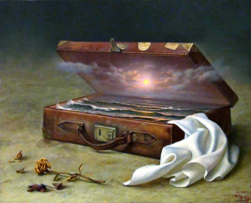 Alex Alemany 1943 - Spanish Hyperrealist and Symbolist painter