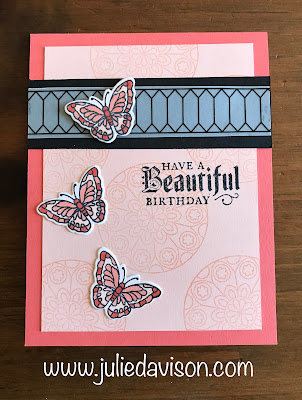 Stampin' Up! Painted Glass Butterfly Cards ~ This or That? Which version do you prefer? ~ www.juliedavison.com