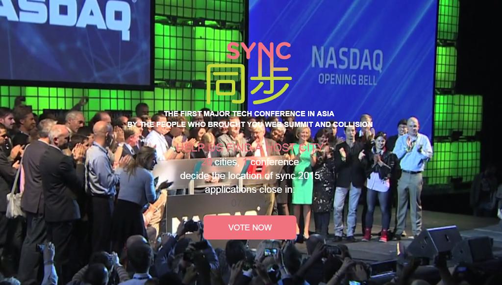 [更新] Sync 2015票選倒數!歐洲科技盛會WebSummit移師亞洲,落腳台北就靠你