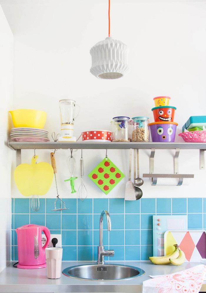 cocina en colores pastel