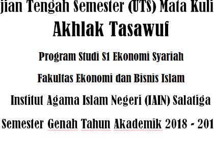 UTS Akhlak Tasawuf