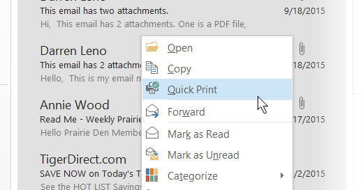 How to Bulk Print E-Mail Messages