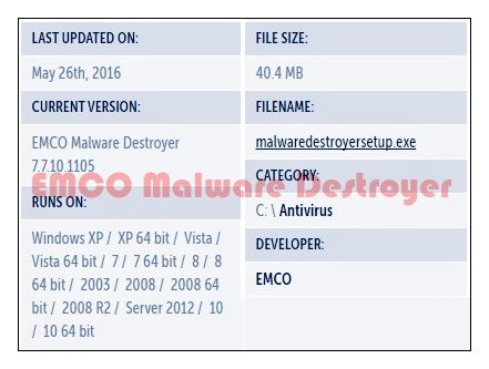 EMCO Malware Destroyer Download
