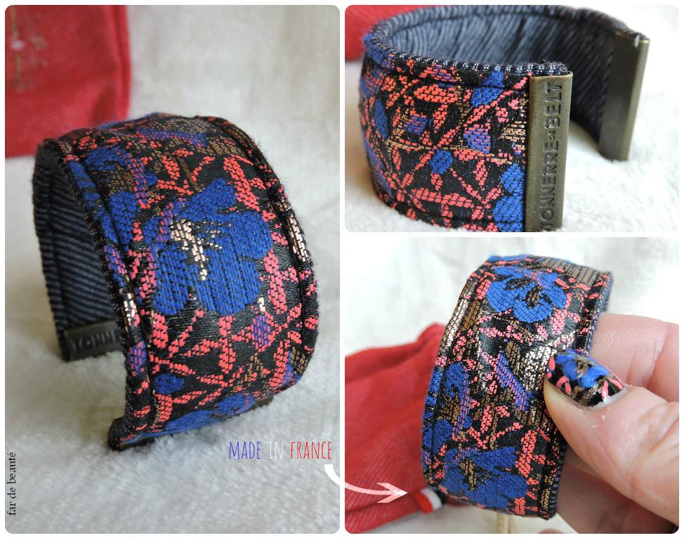 2eba69e509b1 Vous noterez que l intérieur de la manchette est dans un tissu différent,  tout comme les ceintures, version jean pour celui-ci.