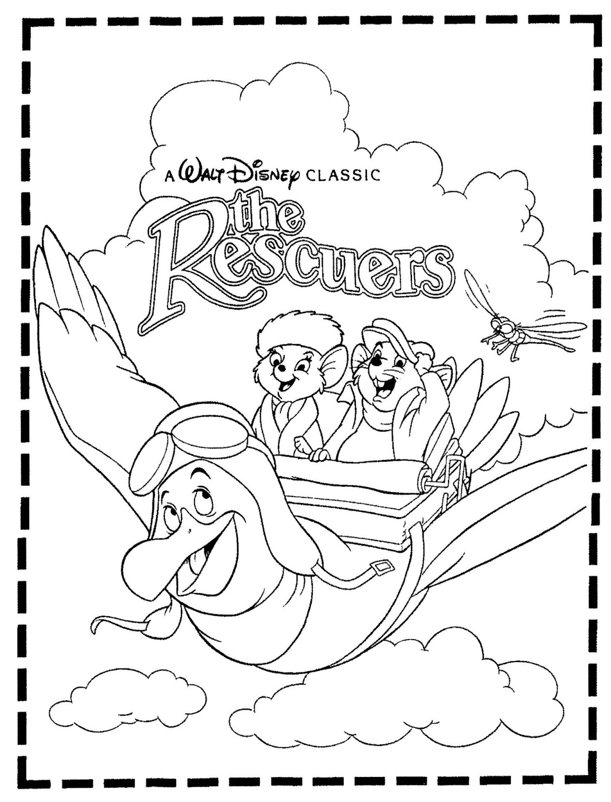 Mostly Paper Dolls Too!: THE RESCUERS Movie Coloring Contest