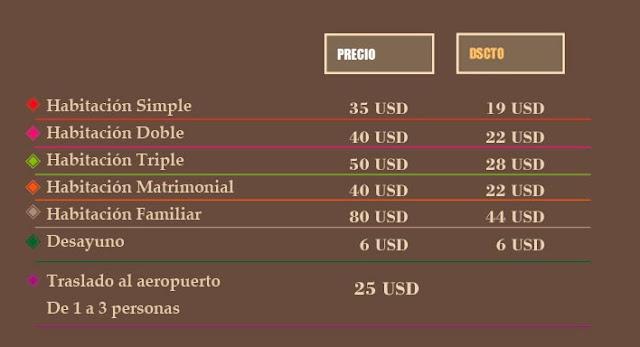 precios hoteles en chorrillos lima peru