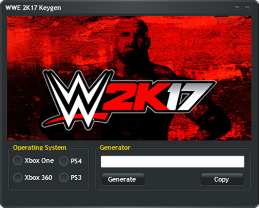 license key wwe 2k17
