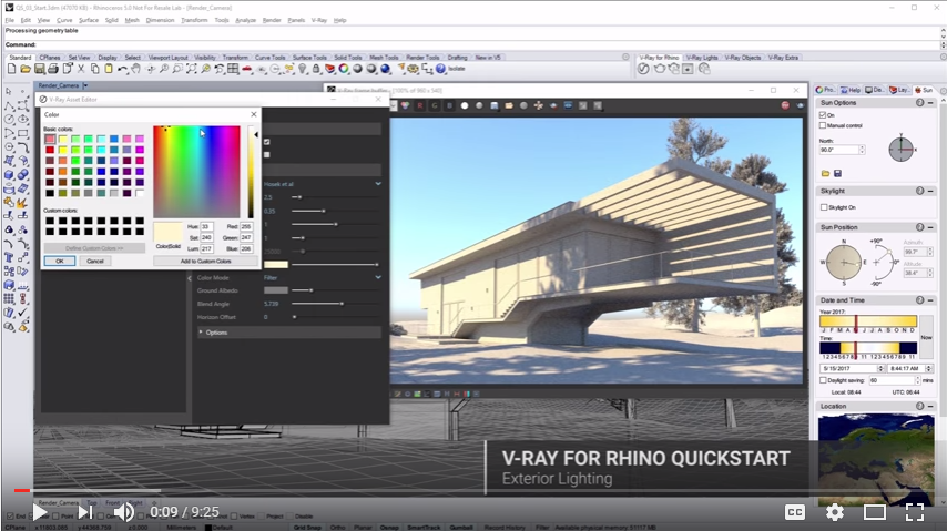 Rhino News, etc : Exterior Lighting - a V-Ray for Rhino tutorial