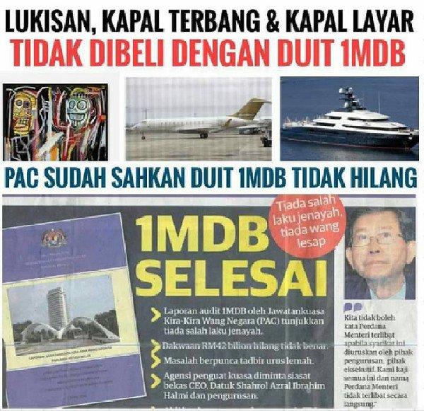 Duit 1MDB Tidak Hilang, Yang Hilang Adalah RM31.5 Bilion Duit Bank Negara