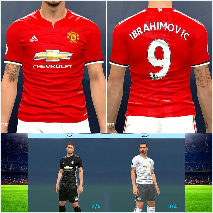 best sneakers ed186 bb169 Manchester United Liverpool 2017 18 Kits Pes 2017 Patch Pes ...