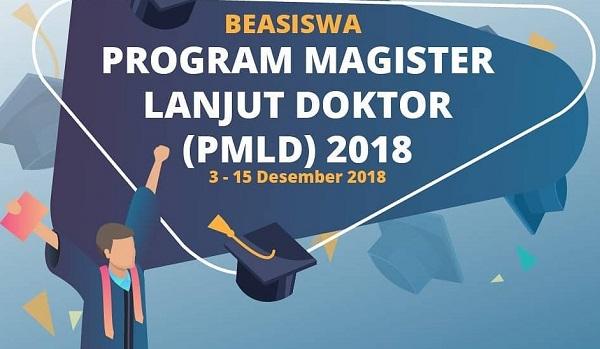 Deadline Pendaftaran Beasiswa Master Langsung Doktor (PMLD) 15 Desember 2018