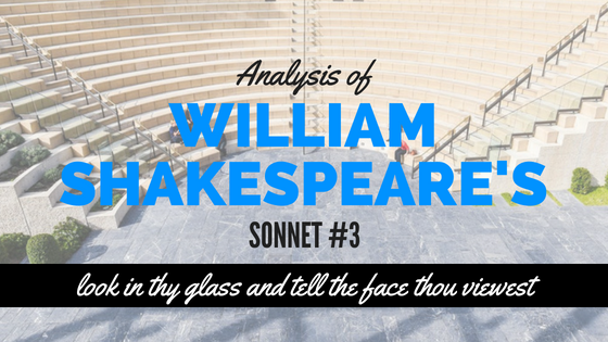 Sonnet #3 - look in thy glass and tell the face thou viewest - by William Shakespeare- Analysis