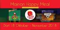 Mainan Happy Meal McD Oktober - November 2018