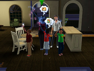 Sims invocando comida