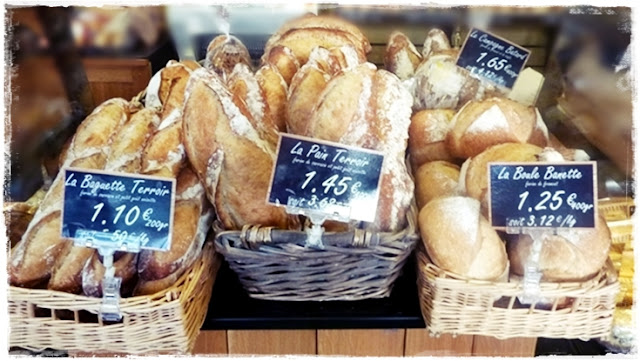 lovely crusty breads for sale in France