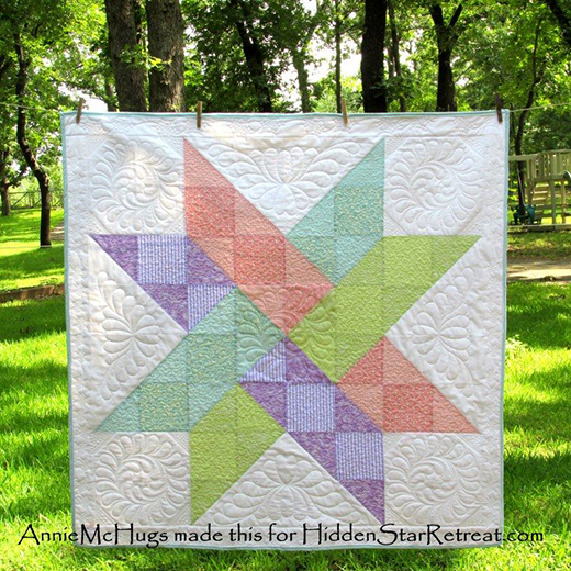 Hidden Star Quilt Free Tutorial designed by Annie McHugs of Hidden Star Retreat