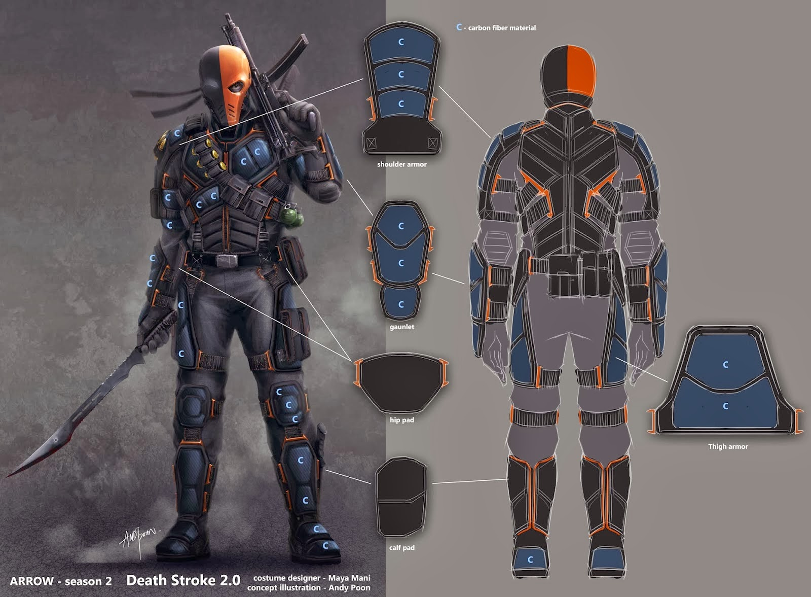Diseños Death Stroke en Arrow 2ª temporada
