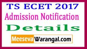 ECET 2017 Notification
