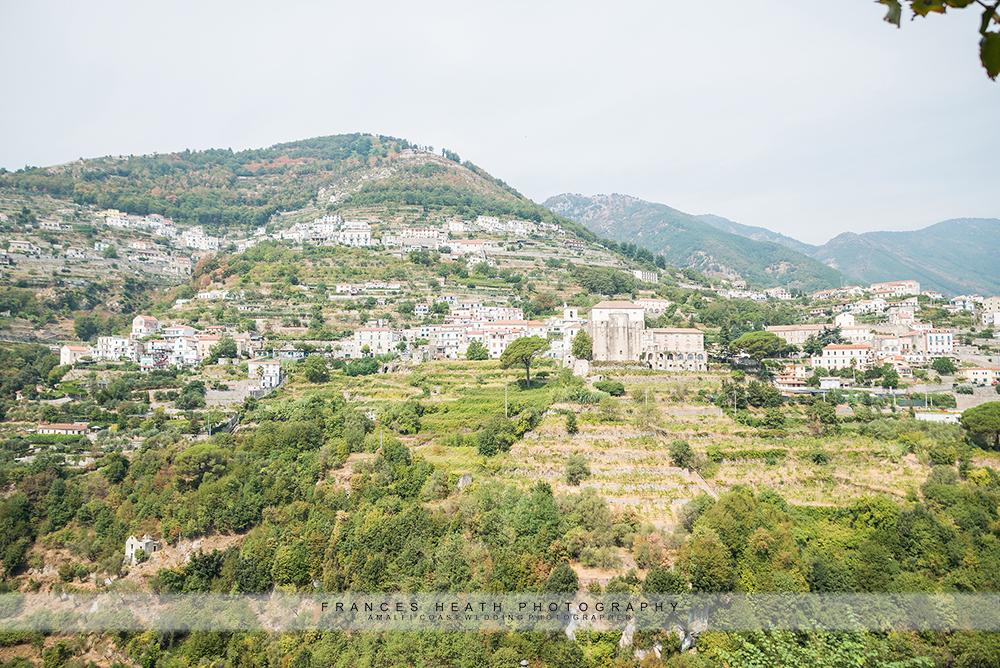 Ravello mountain view