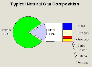 The typical composition natural gas is mostly methane