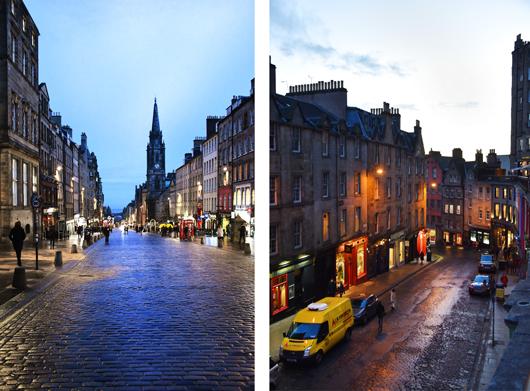 Edinburgh in der Nacht