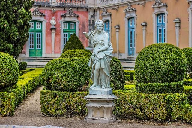 Jardim do Palácio de Queluz em Sintra