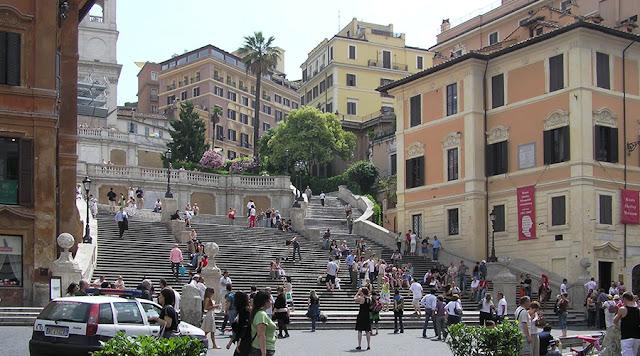 Escadaria da praça da Espanha, Roma, Lazio, Itália