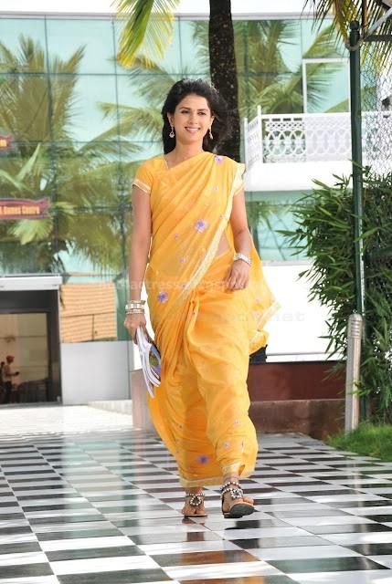 Daisy bopana show pics in saree