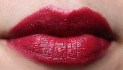 B. Velvet Matte Lipstick in Tainted swatches review