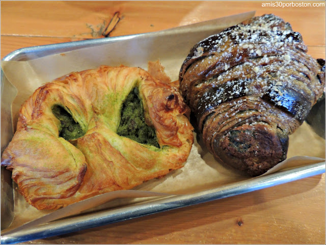 Matcha Red Bean Danish & Black Sesame Almond Croissant
