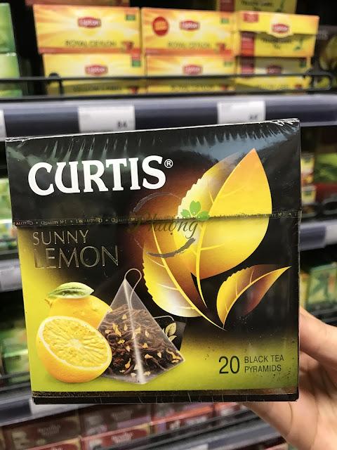 Trà đen của Nga nhãn hiệu CURTIS SUNNY LEMON 20 túi lọc